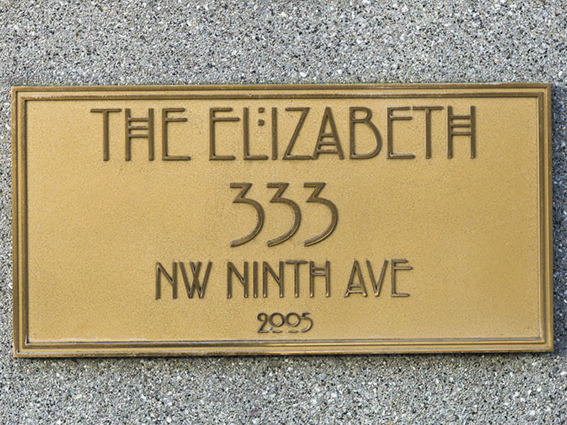 The Elizabeth Nameplate